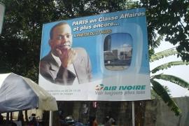 エールイボワール(現在は廃業)のパリ行ビジネスクラ スの 広告