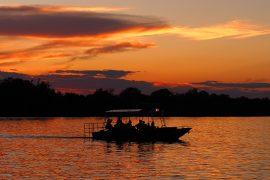 チョベ川でのボートサファリ
