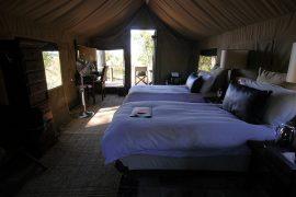 ナベハ・キャンプ。クラシックなテント式のロッジです