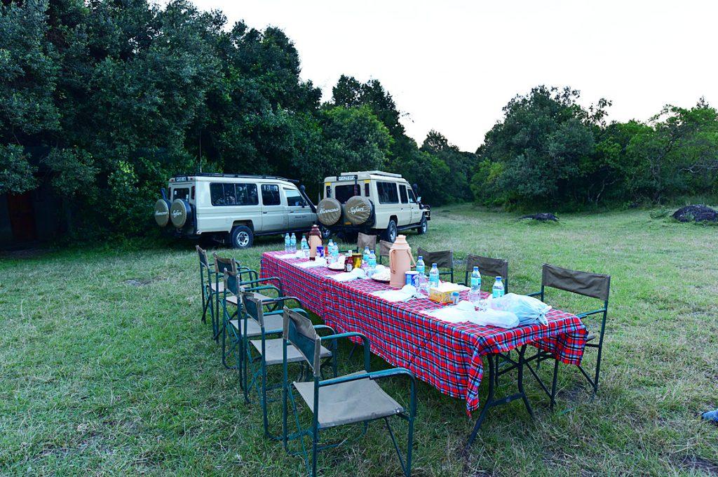 アルーシャ国立公園のキャンプサイト