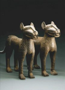 BENIN Pair of Leopard  16th-17th AD