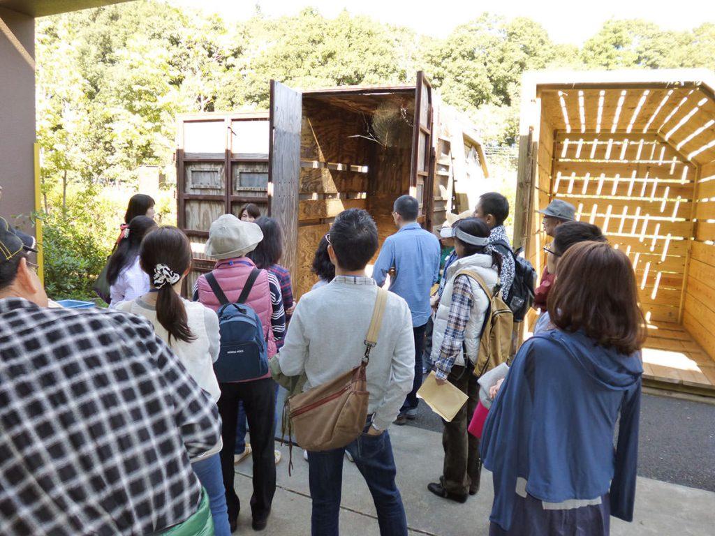 アメリカから運ばれてきた際に実際に使われたキリンの木箱!