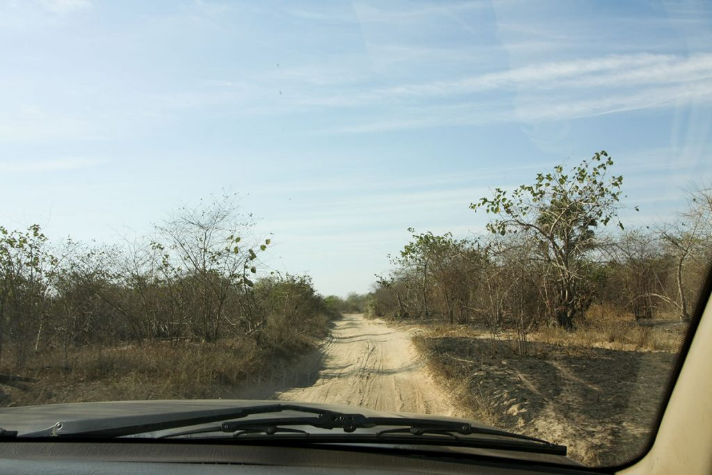未舗装路の道が続きます1