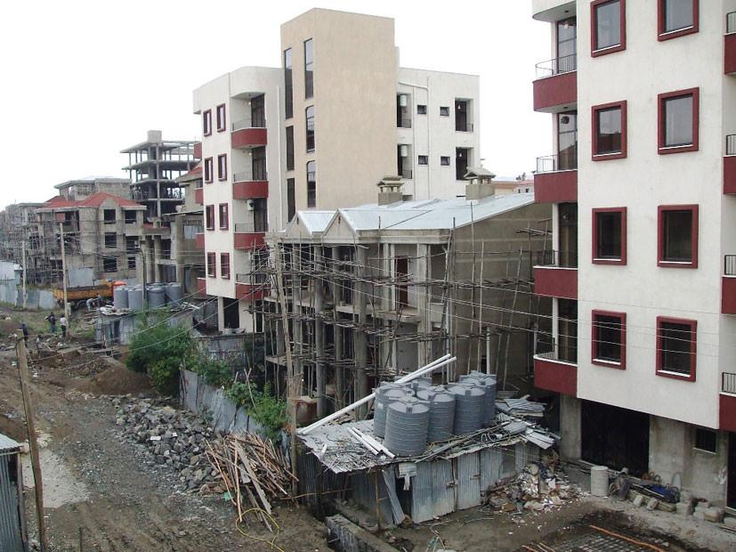 住宅建設ラッシュがつづく都市