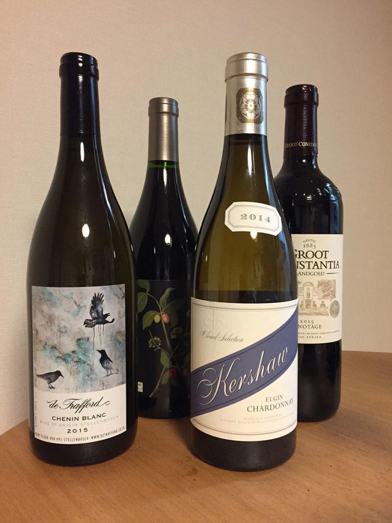 ケープタウン市内のワインショップや空港で購入したワイン