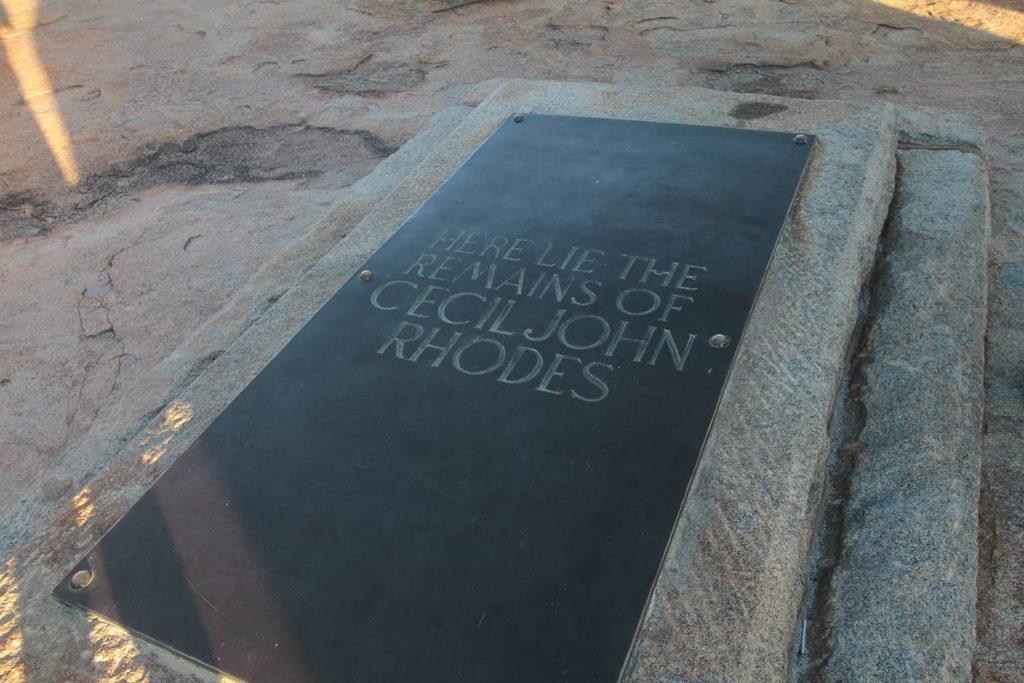広大な夢を持ちアフリカに進出し続けたセシルローズのお墓