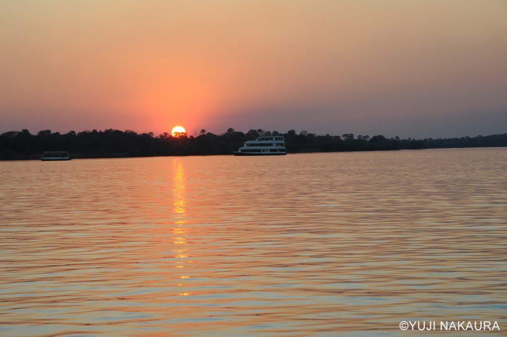 ザンベジ川の夕日クルーズ5