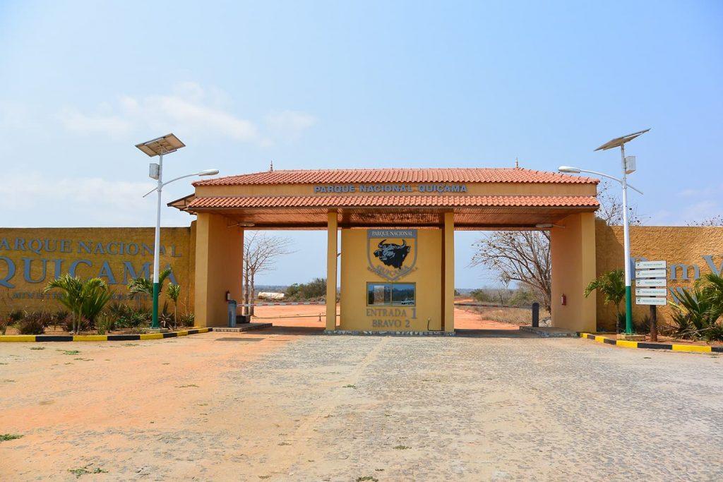 キッサマ国立公園のゲート。アンゴラにはいくつか国立公園がありますが設備が整っているのはまだこの公園くらいだそうです。