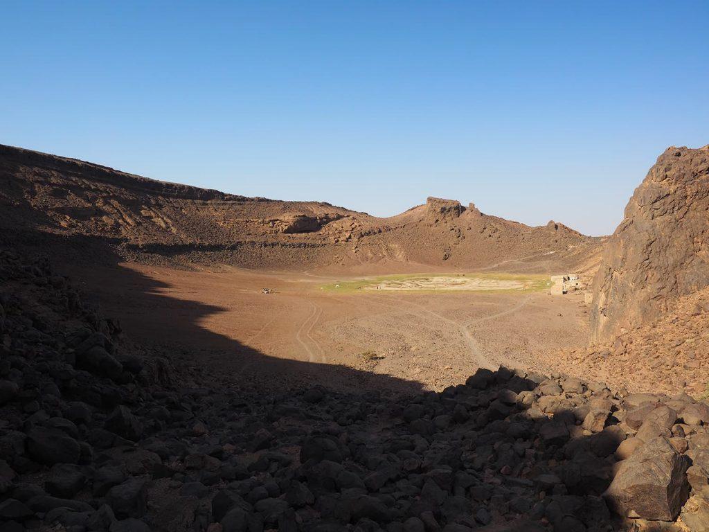 19世紀のマフディー戦争中は真水の供給地として重要視されたアトラム・クレーター