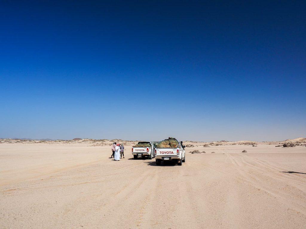 風景は徐々に砂漠らしく変化していきます。