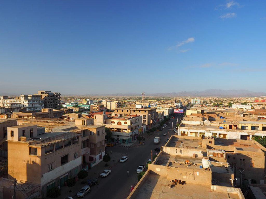 新年の朝のポート・スーダンの街並み