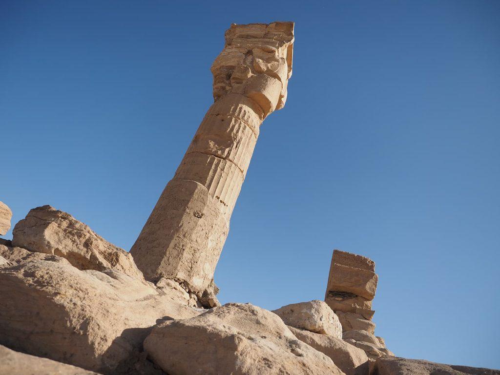 紀元前1359~1352年ころの建造されたセディンガ神殿のハトホル柱。