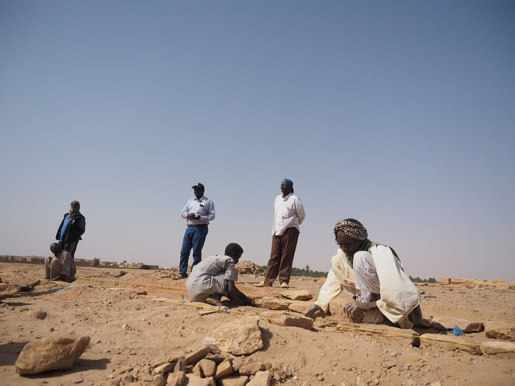 遺跡内では、現在でも発掘作業が続けられています。