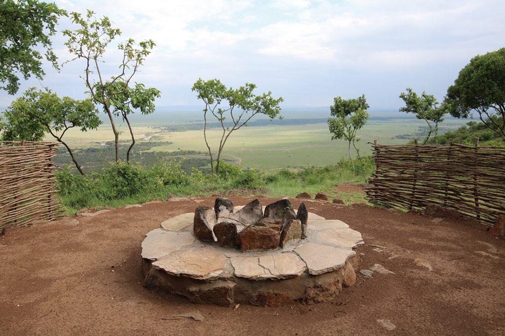 キリマ・キャンプからの風景