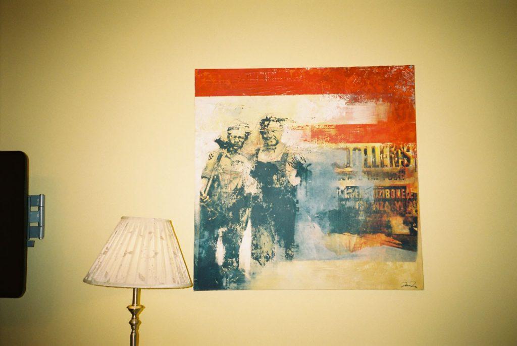 宿泊した部屋に飾られていた絵画。。。。オシャレ!