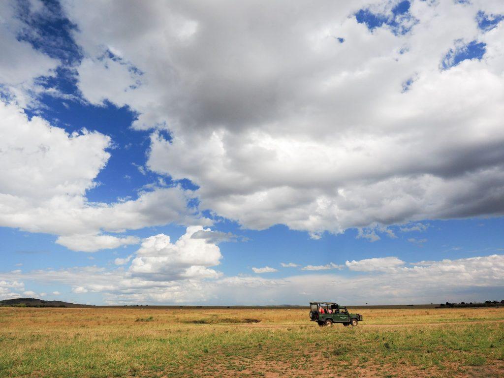 乾季なのに雨が残っていることで、雲と青空には恵まれました。