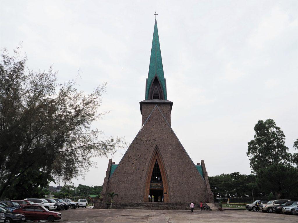 聖アン・バジリック教会。コンゴ共和国は古くからカトリック・キリストが伝わってきた歴史があります。