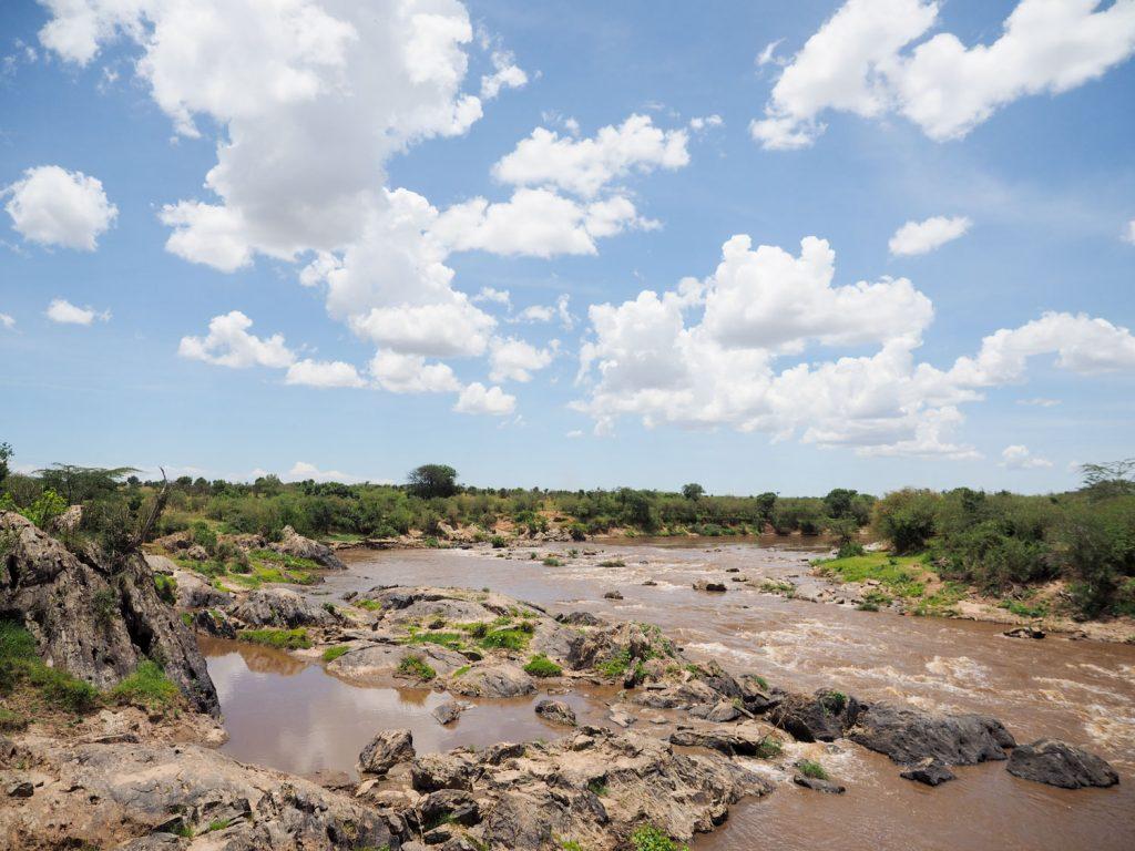 『マラ川』ヌーの大移動の季節には、『川渡り』が有名です。