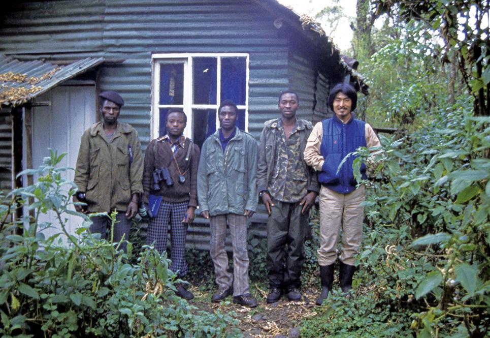 ルワンダのカリソケキャンプにて(1982年)