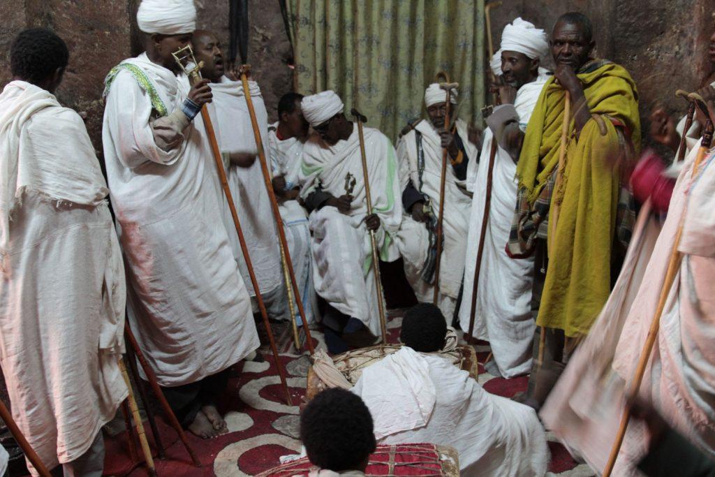 エチオピア正教独自の楽器を用いたチャンティング