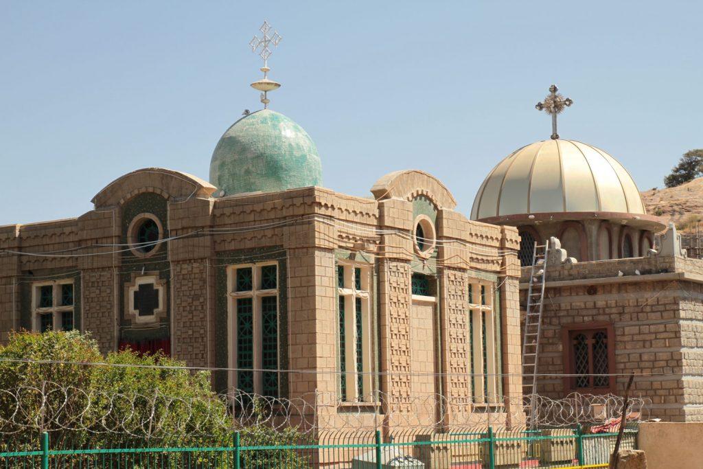 エチオピア正教で最も重要なアイテム、モーセの十戒の石板が収められたアーク(聖櫃)が保管されている建物