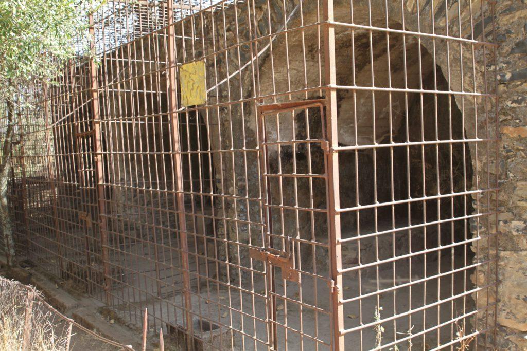 今は絶滅してしまったアビシニアンライオンが飼われていた檻
