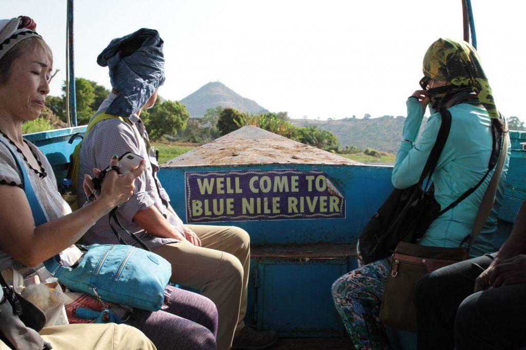 ナイル川の源流の一つ青ナイル川へ