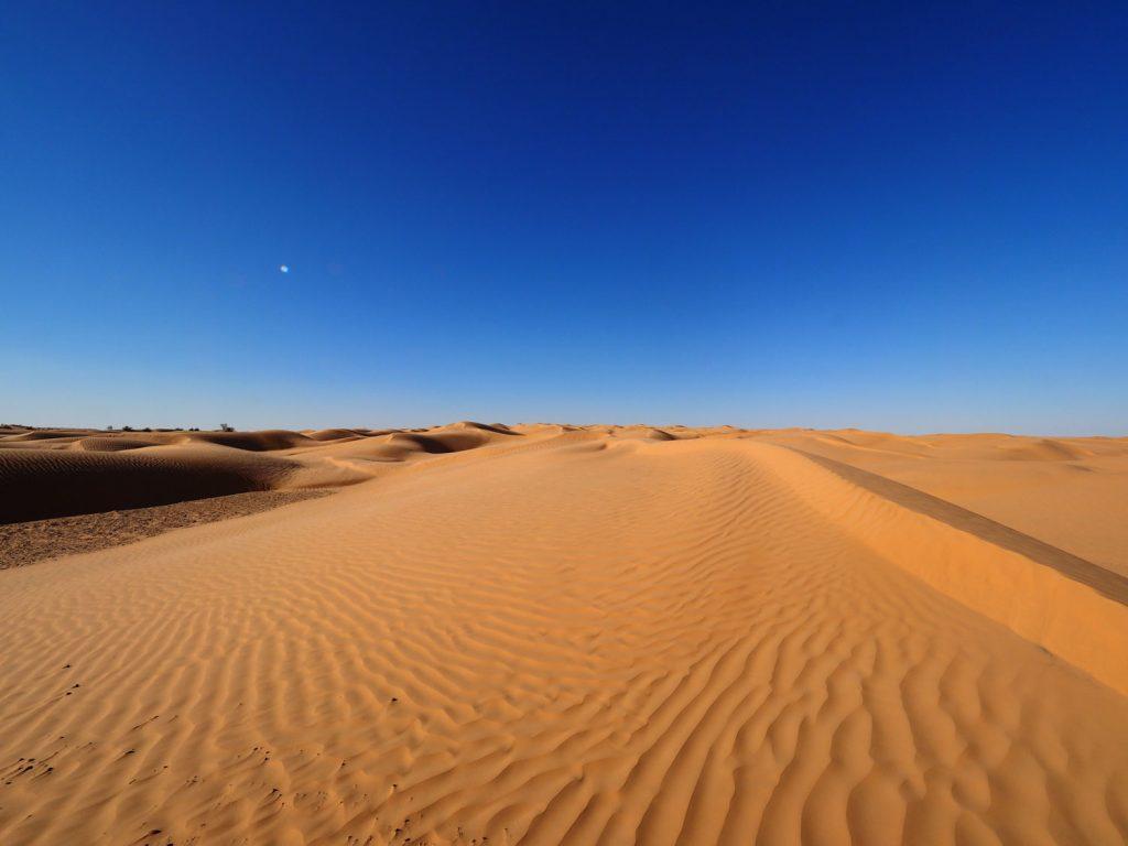 空の蒼と砂のベージュだけの世界