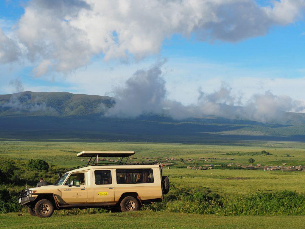 マサイ村からの眺め。