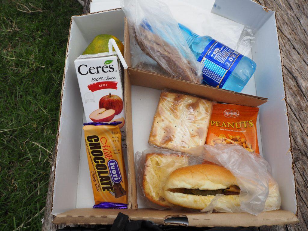 とある日のランチボックス。草原で食べる食事は格別です!