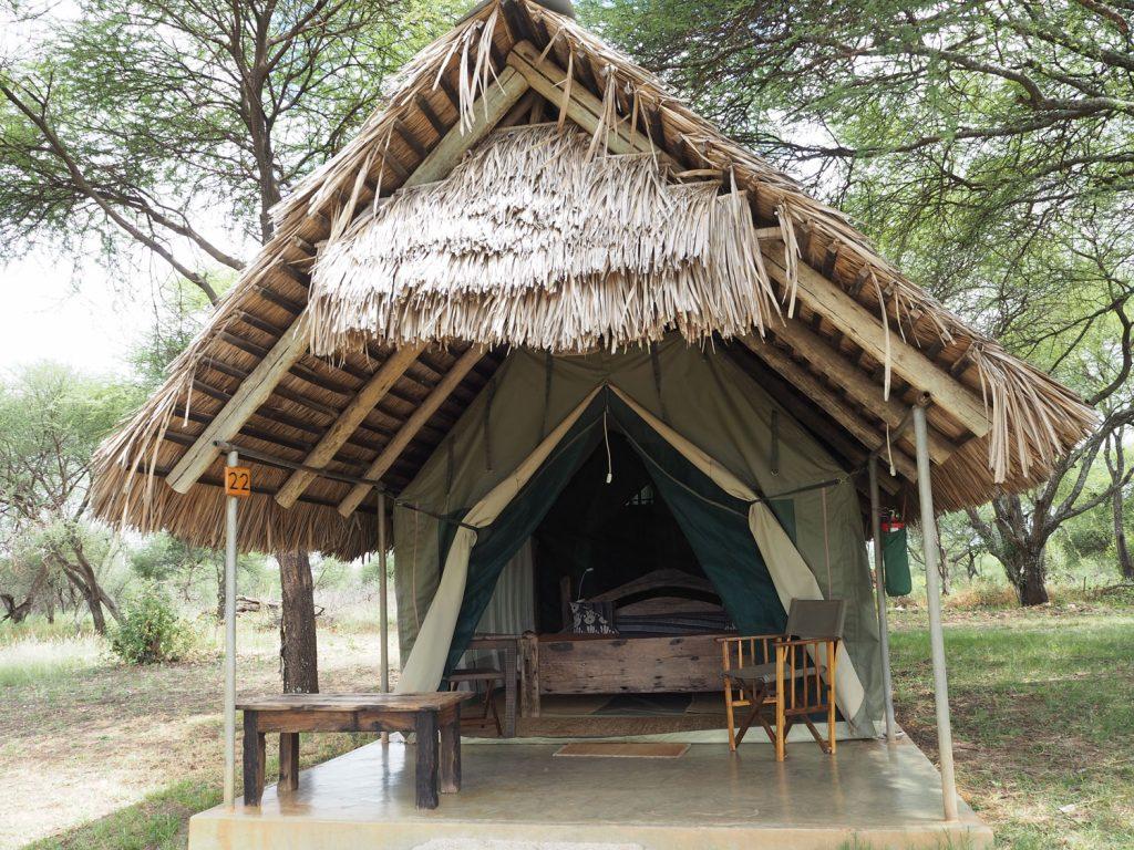 タランギレで宿泊したテント型ロッジ。