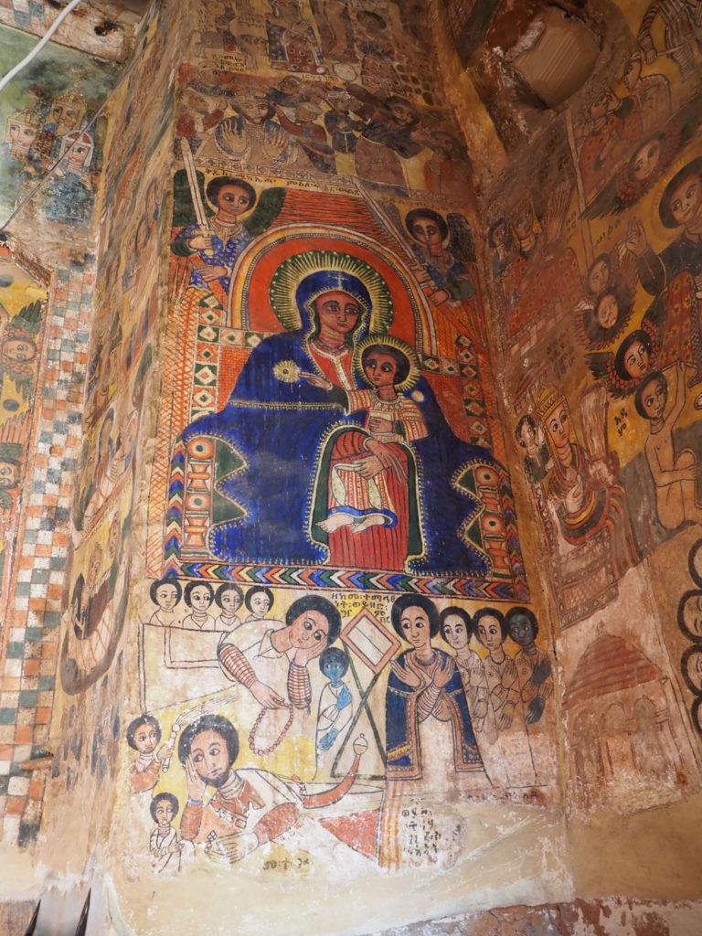 ポルトガル絵画の影響を受けたといわれる聖母子像