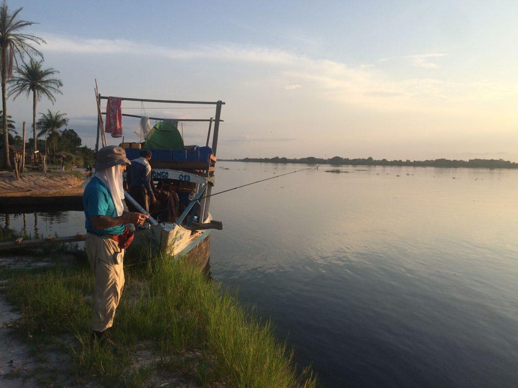 キャンプ地到着後は釣りも楽しみ。釣果は?