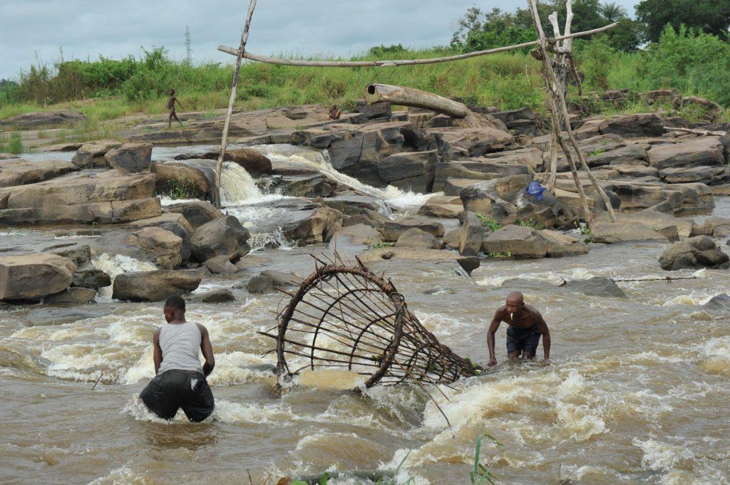 ワゲニアの伝統漁のデモンストレーション