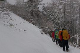2013年4月雲取山 季節外れの大雪で敗退