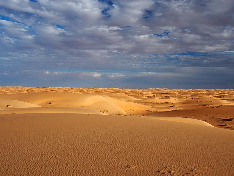シンゲッティの北東方向から、おそらく延々アルジェリア領内まで続く砂丘地帯が始まっています。