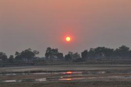 ルアングア川の夕日