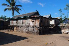 漁師の伝統的な家が高床になっているのは、コモドドラゴン対策という面もあるようです。