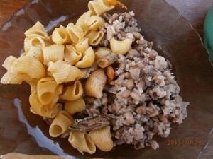 赤飯と似ている豆ご飯とマカロニ