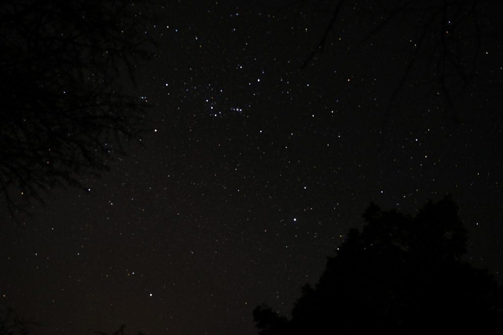 帰国の朝に撮った星空