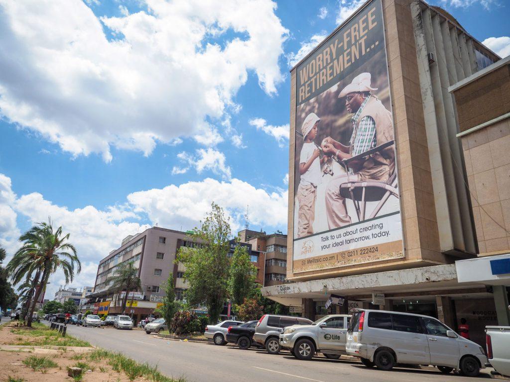 人口は250万人。70もの民族の人々が入り混じるザンビアの中心地です。