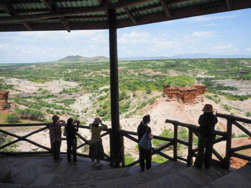 途中でオルドバイ峡谷を見学。アウストラロピテクス・ボイセイとホモ・ハビリスの化石が発見された場所で『人類発祥の地』とされています。