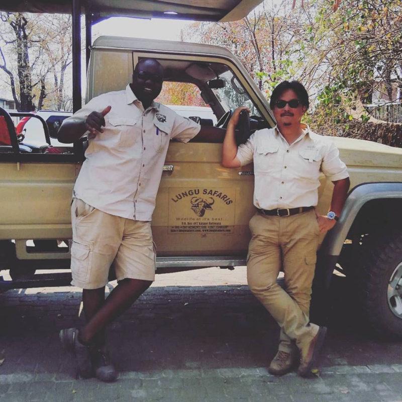 名物ガイドのMR.サミュエル・ショーゾー・ルング、ボツワナでお待ちしています!