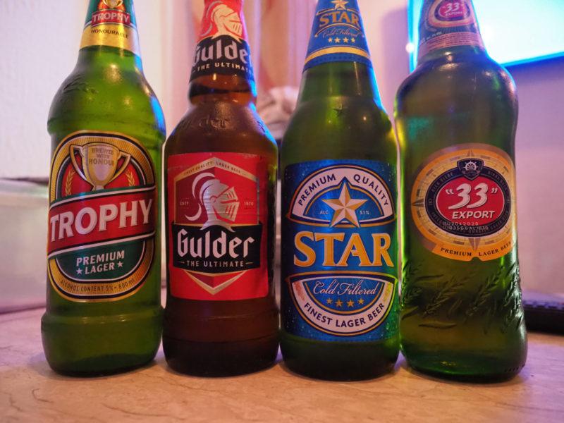 ビールも美味しいです。たくさん種類がありますが、ナイジェリアと言えば、まずは「STAR☆ビール」