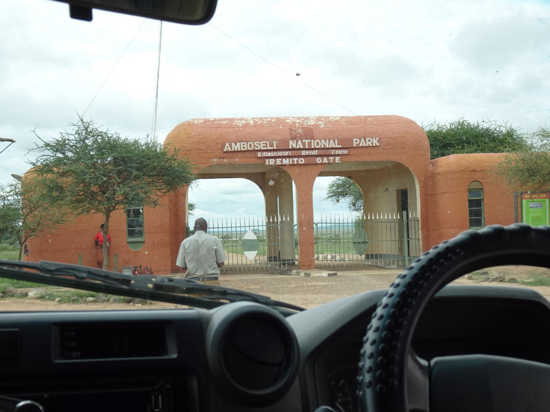 アンボセリ国立公園入口