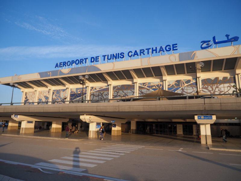 日本からの長いフライトを経て、首都チュニスのカルタゴ空港へ到着!
