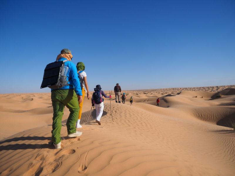 「砂漠を歩く」。目的はただそれだけです。