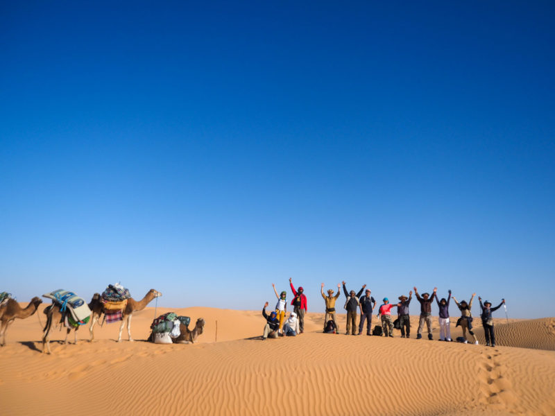 砂漠歩きの旅も最終日。あと一息です!