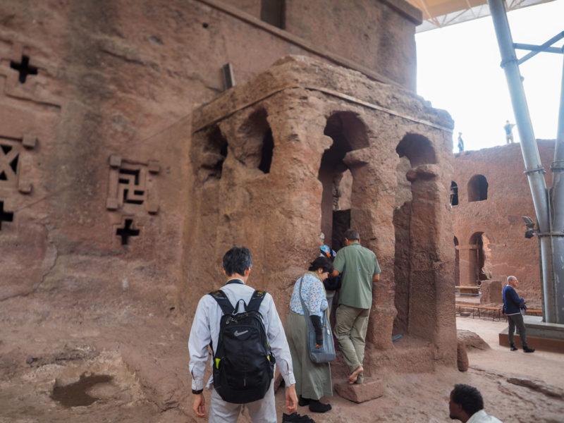 ラリベラの岩窟教会群のひとつ、聖マリア教会 (Bet Maryam)