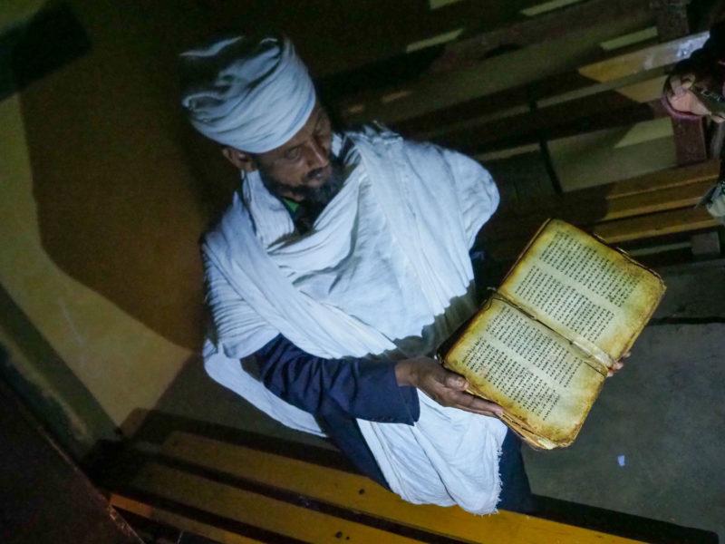古アクスム王国時代の書物。古代ゲーズ語で記されています。